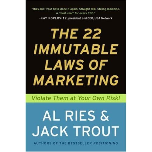 22 Immutable Laws of Marketing Book Cover