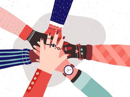 All hands in illustrator