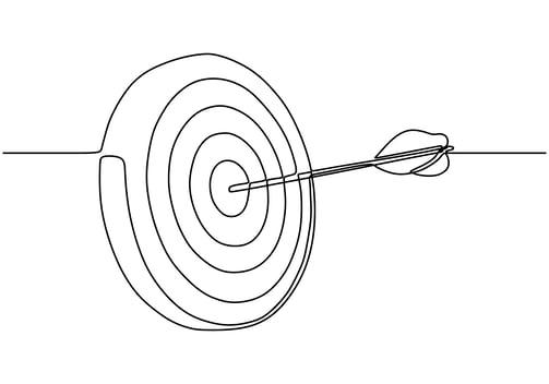 Arrow hitting target digital marketing