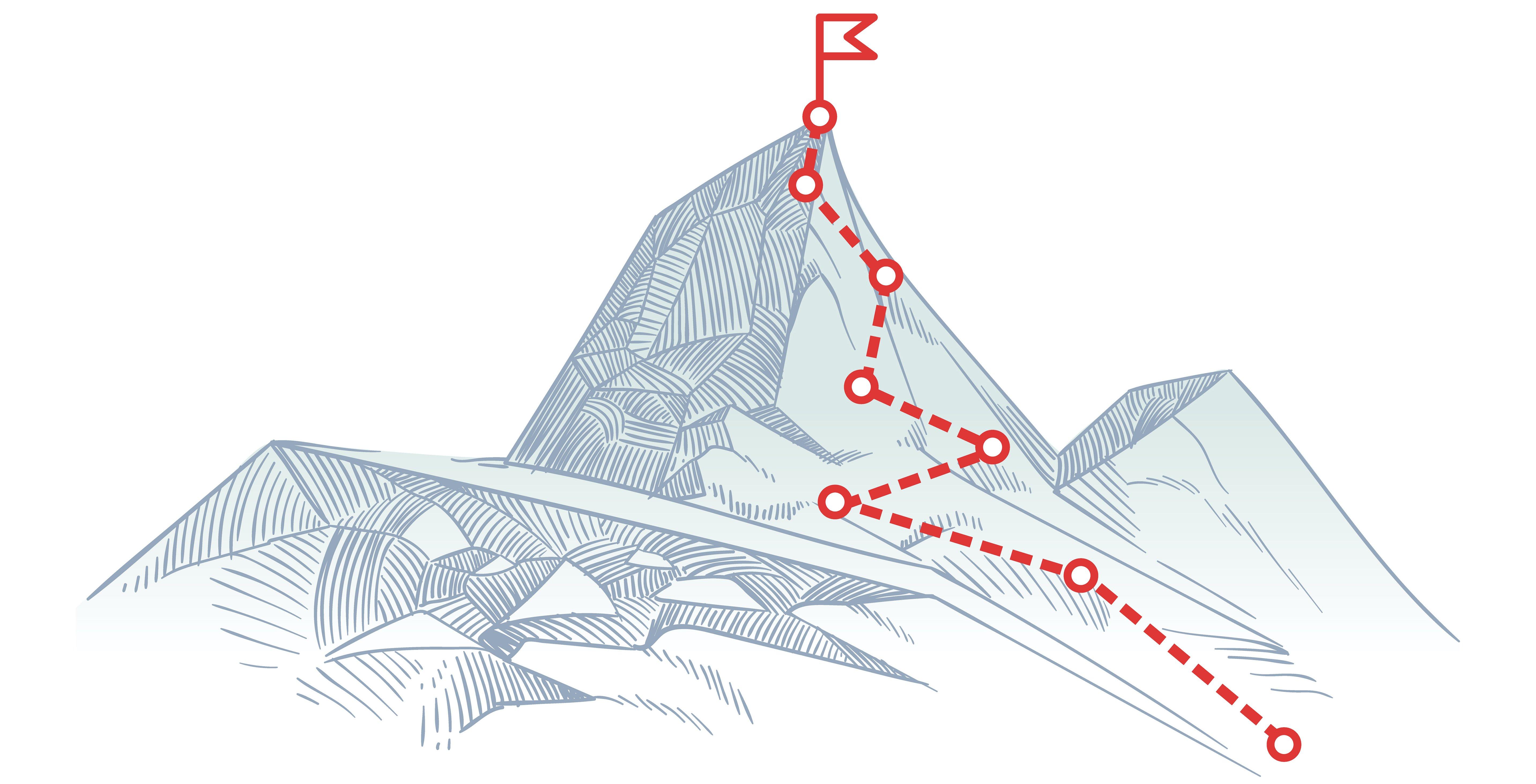 Coordinates to a mountain peak