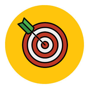 Bullseye with arrow illustration
