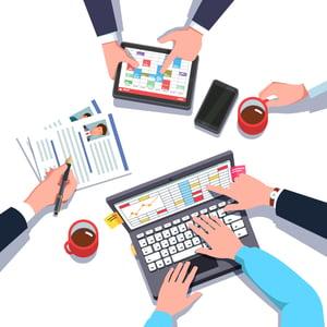 Professionals sharing data