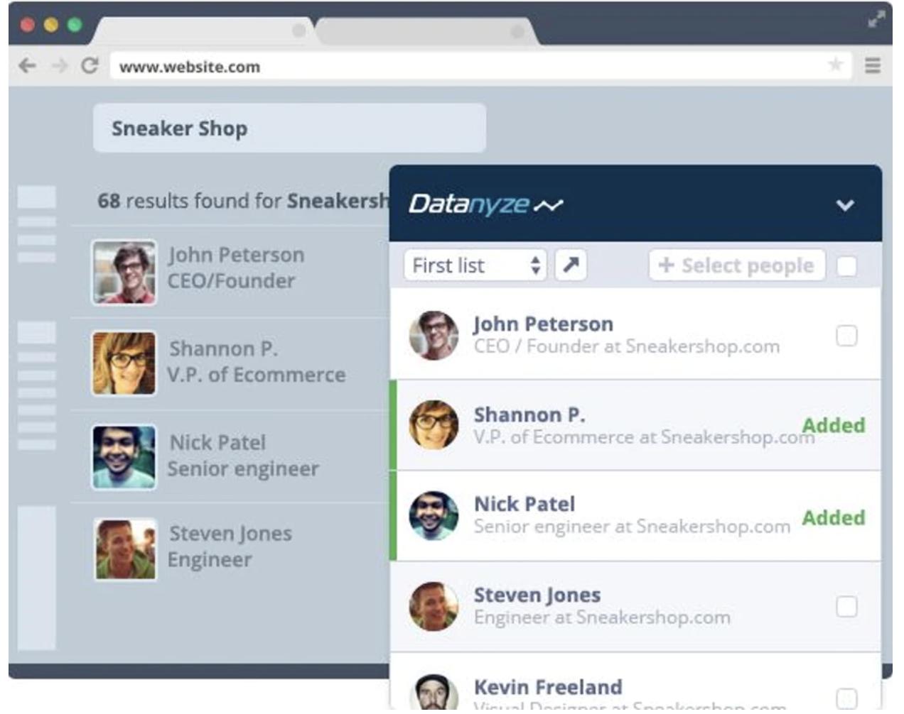 Datanyze Screenshot