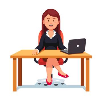 Female Business Owner at Desk