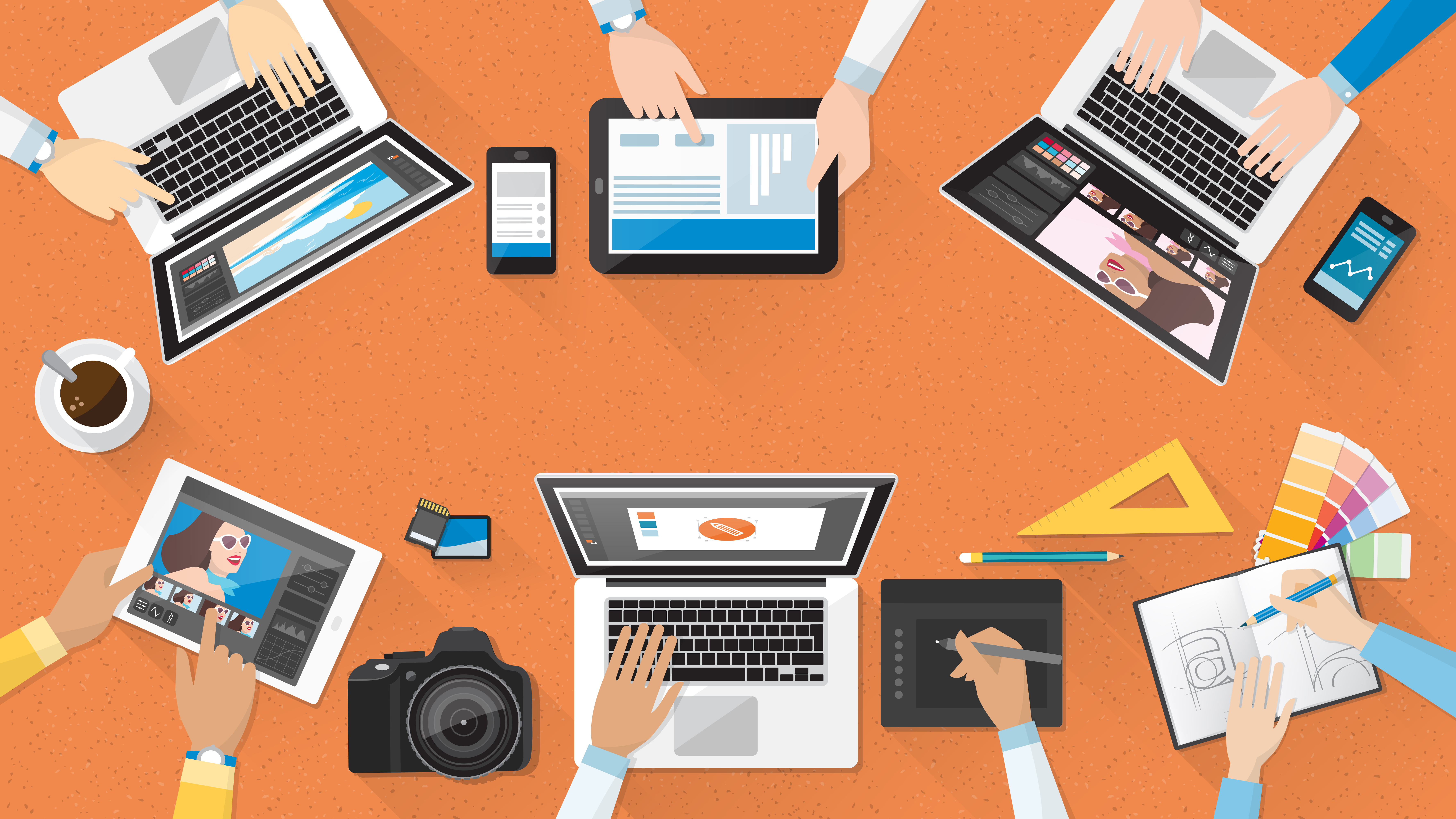 Group of Marketers Illustration