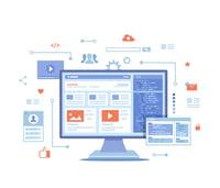 Cluttered website illustration
