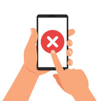 No mobile site available illustration