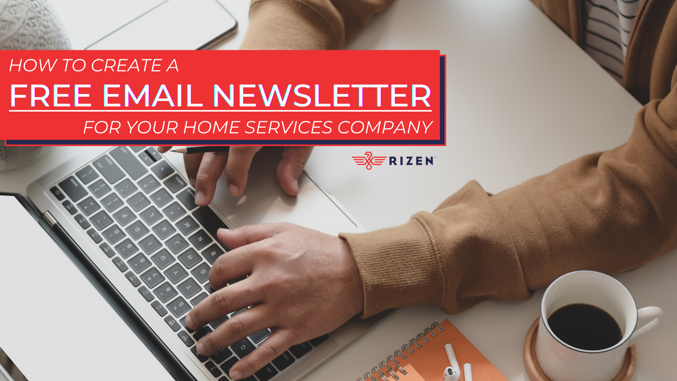 Create a Free Email Newsletter Hero