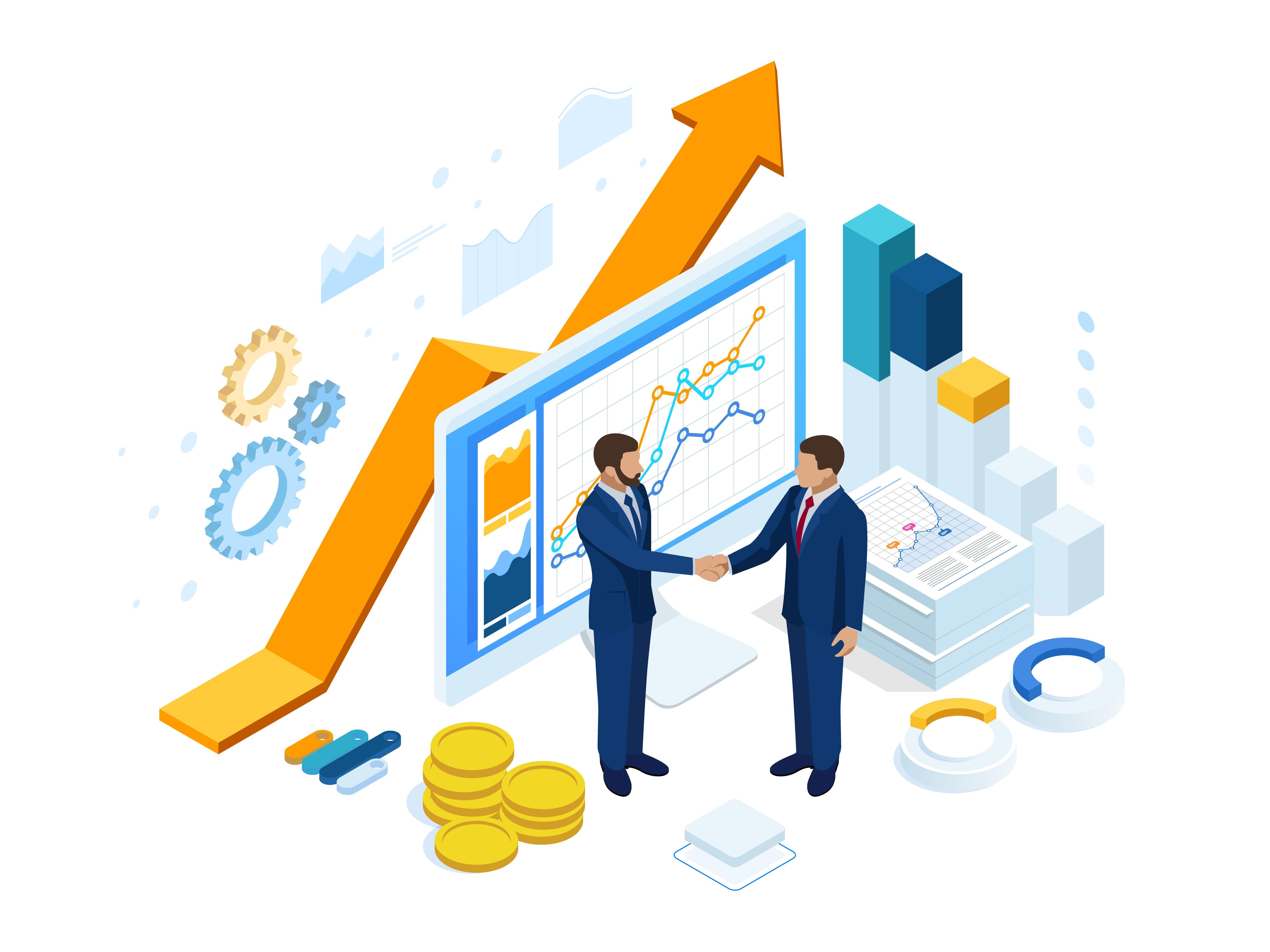 Sales Success Illustration
