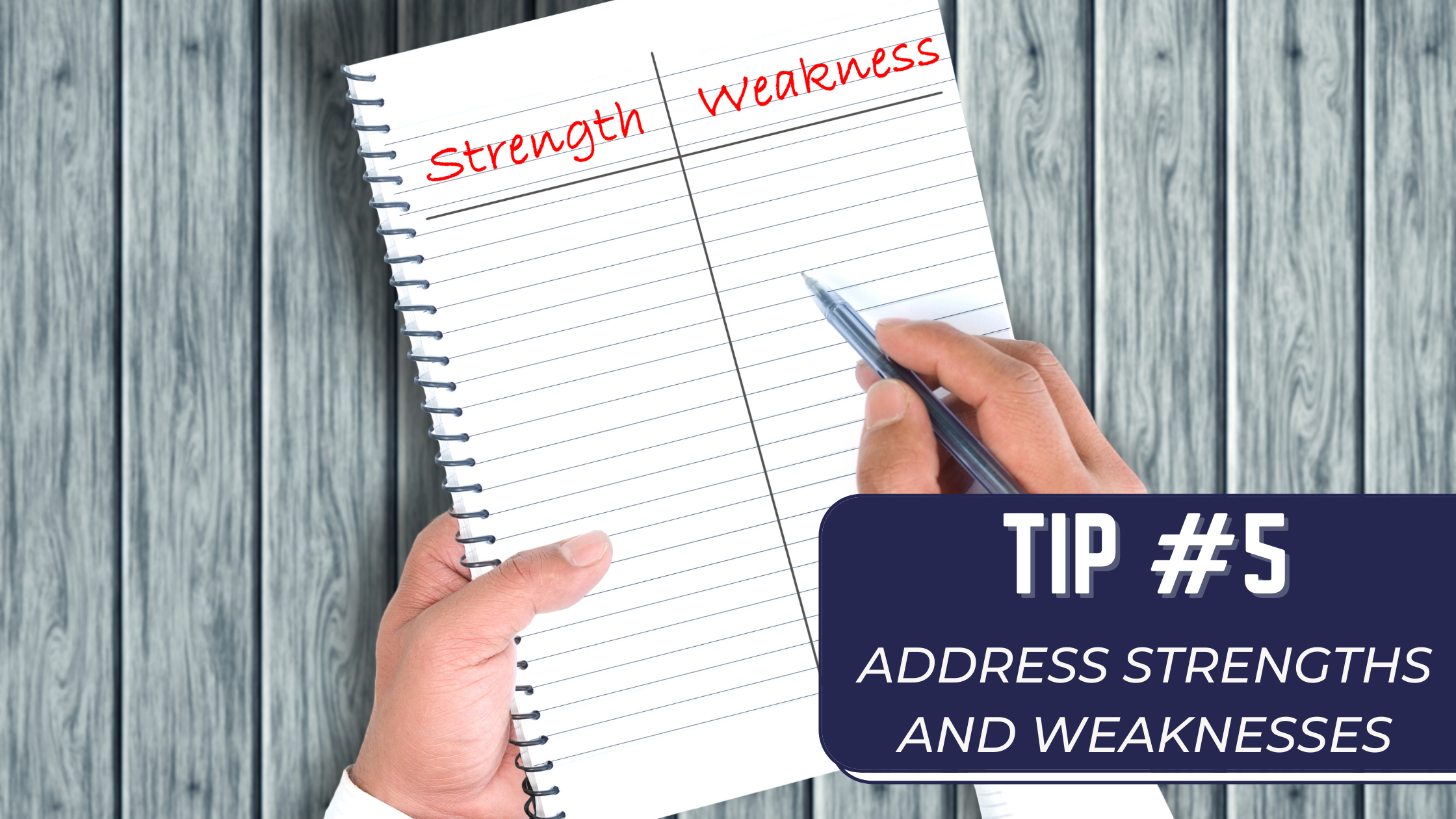 address strength and weaknesses