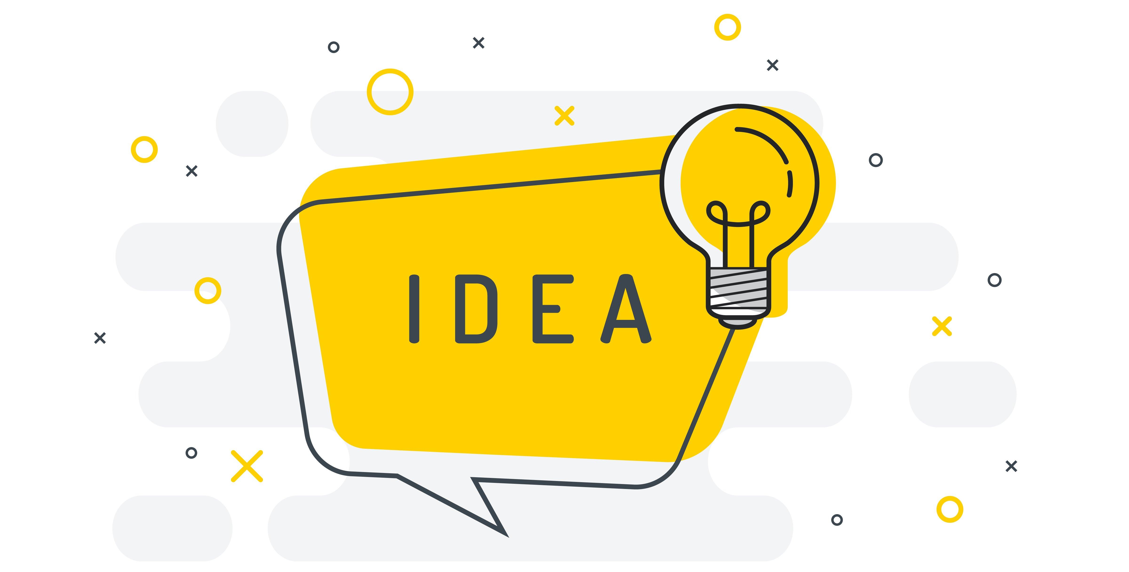 Idea with lightbulb illustration