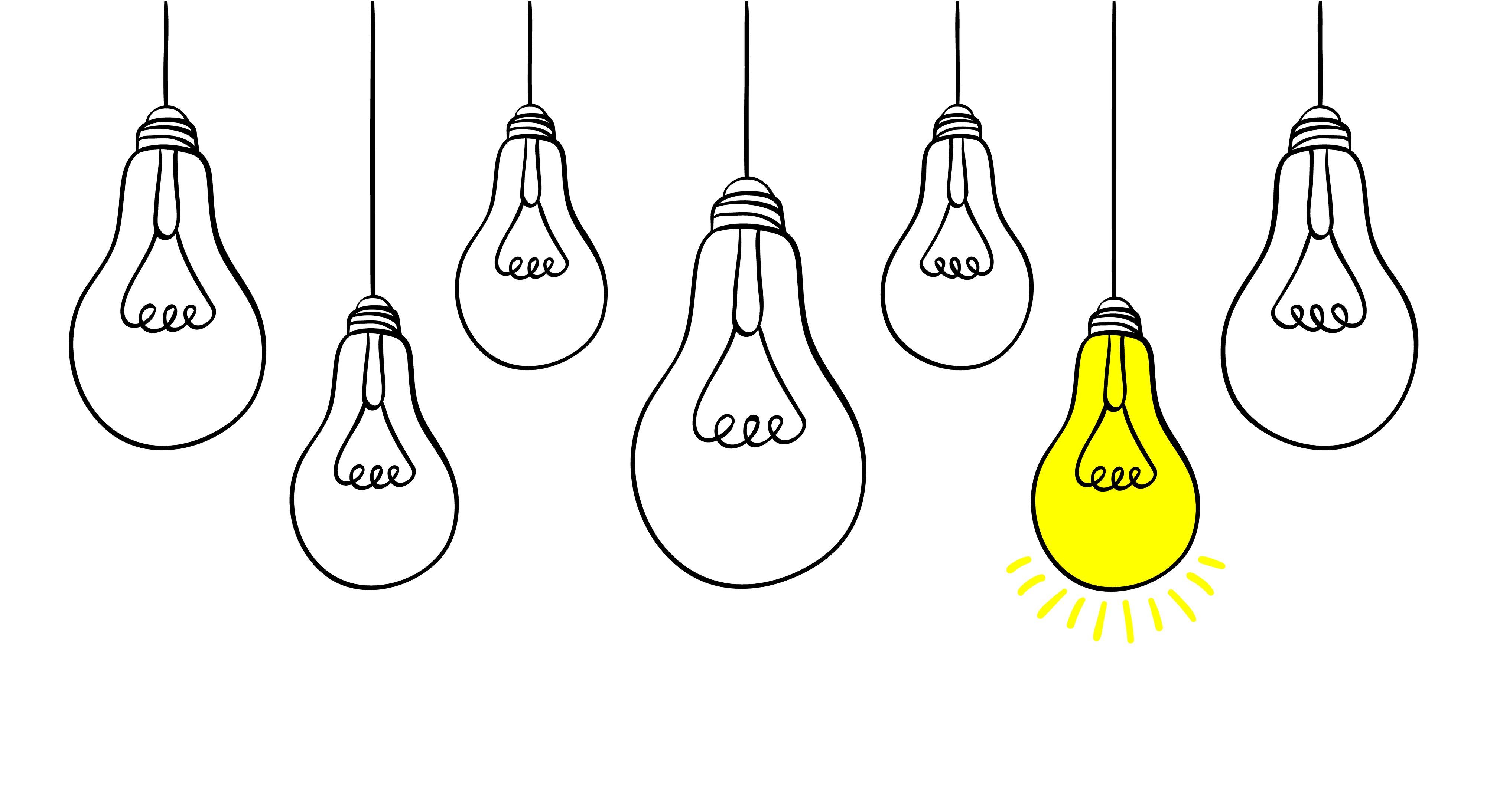 Lightbulbs inspiration