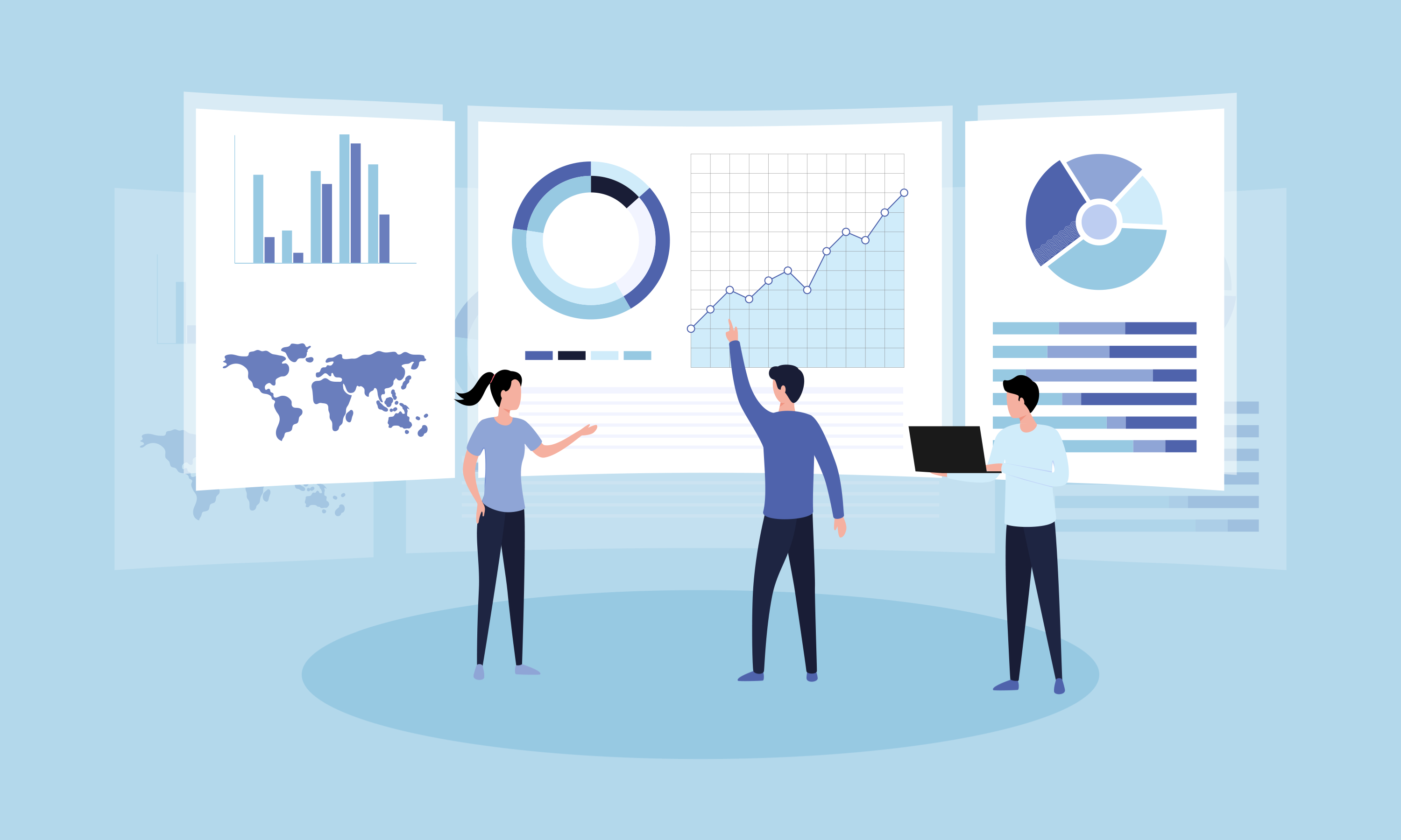 Marketing Data Tracking Illustration