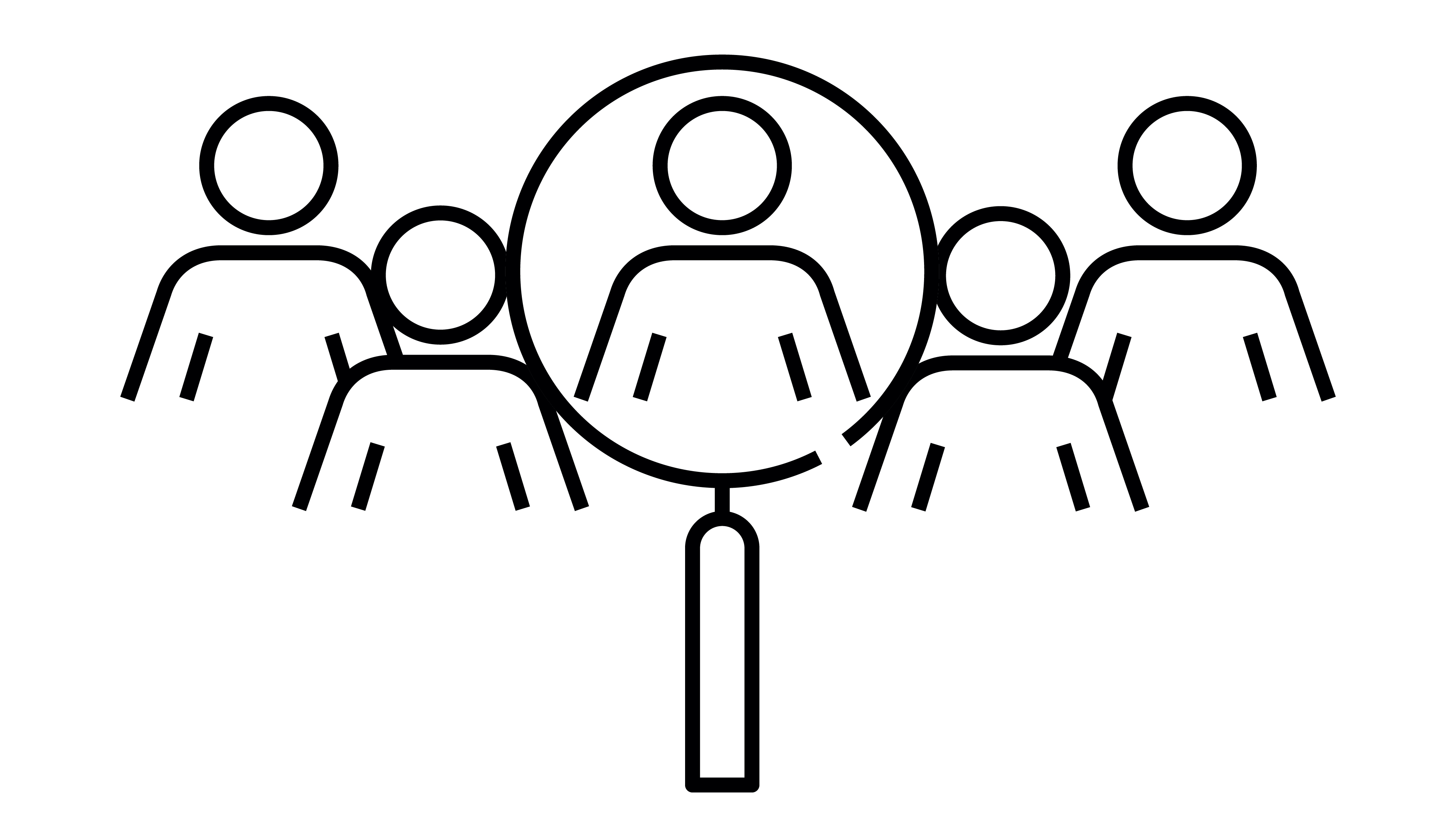 Audience and Magnifying Glass Illustration