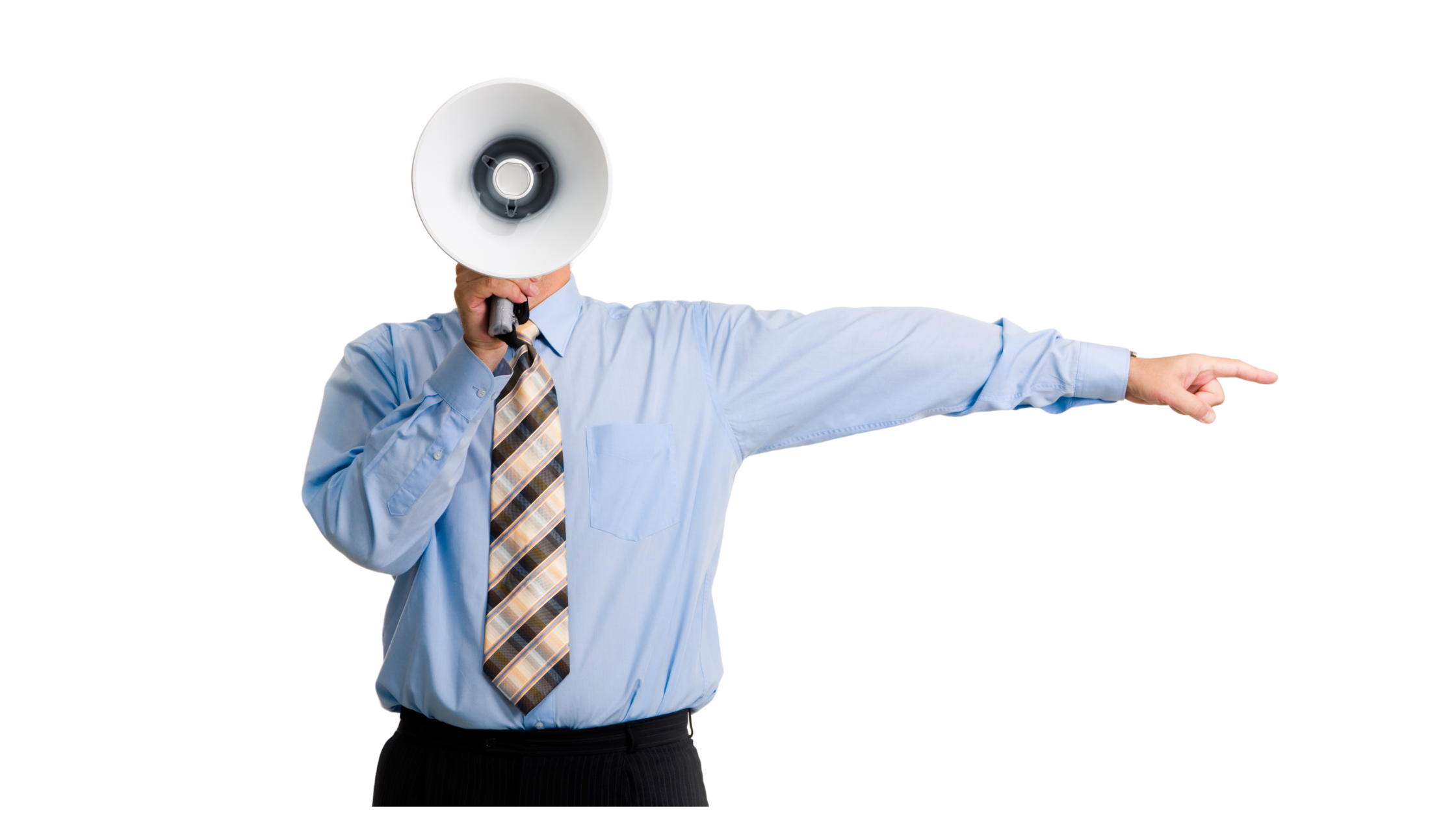 Boss with a megaphone