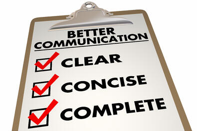 Checklist for clear communication