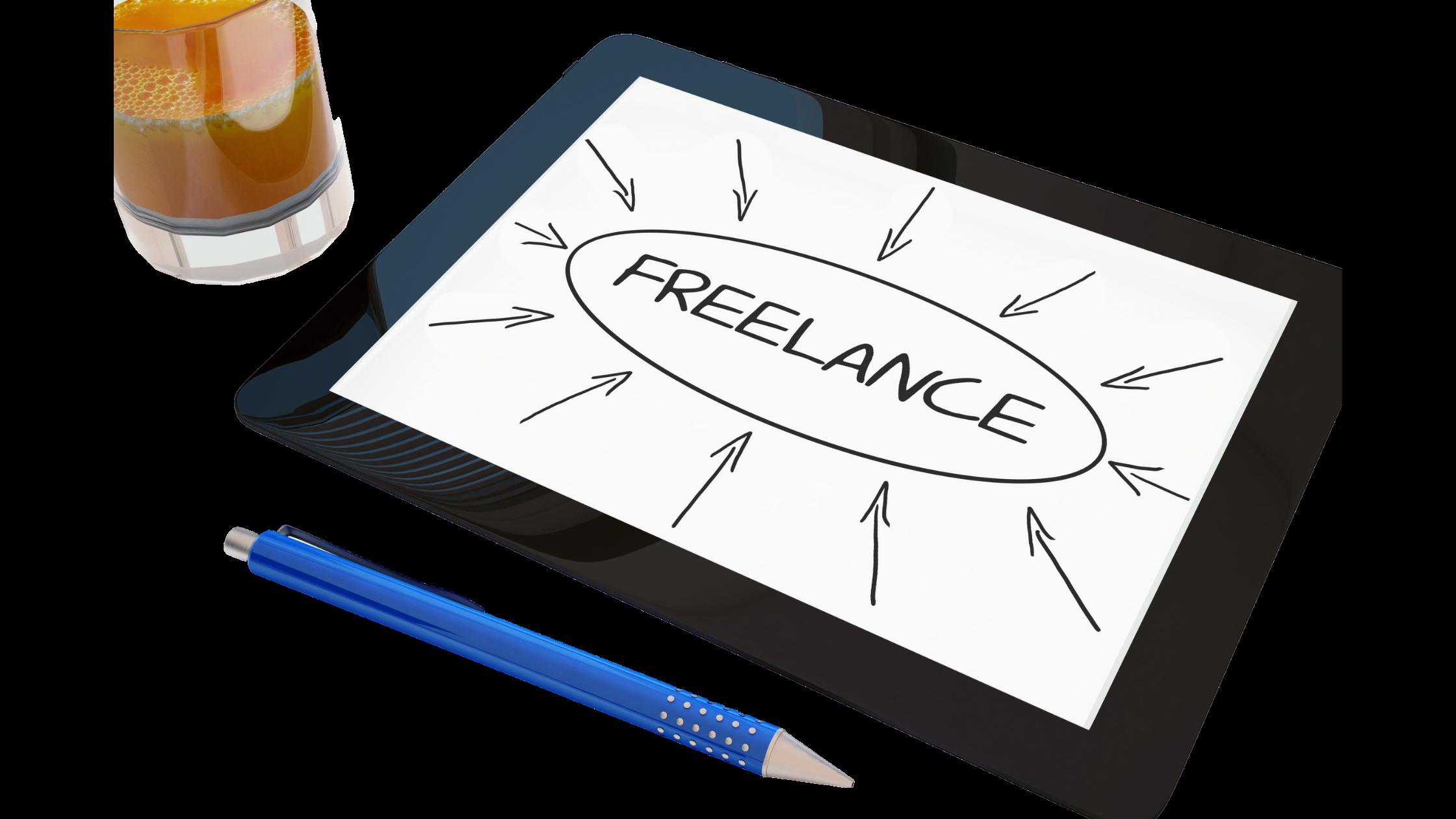 Freelancer written on tablet screen