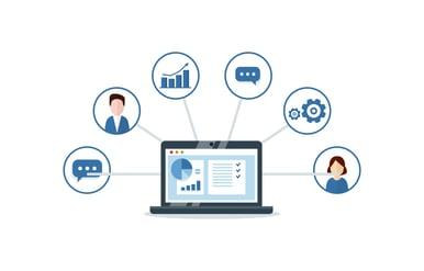 Marketing Software Illustration