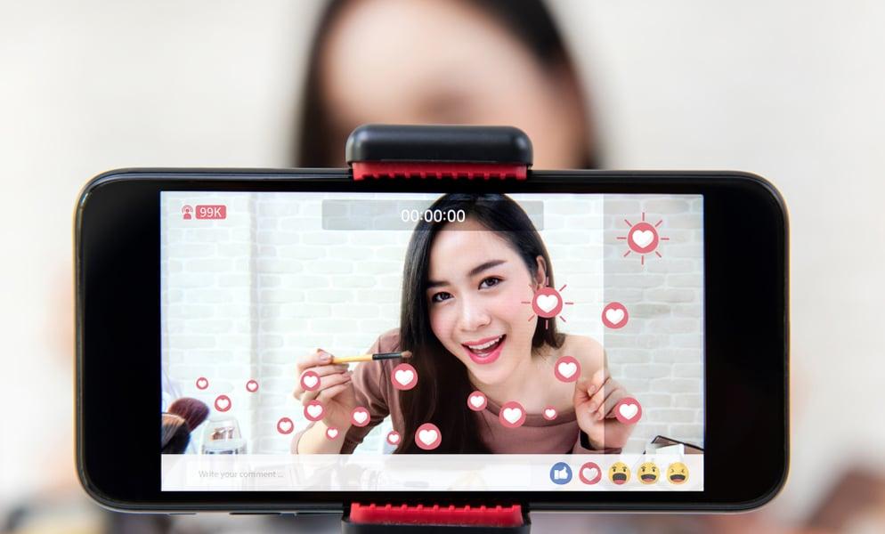 Social Media Influencer Filming w Phone