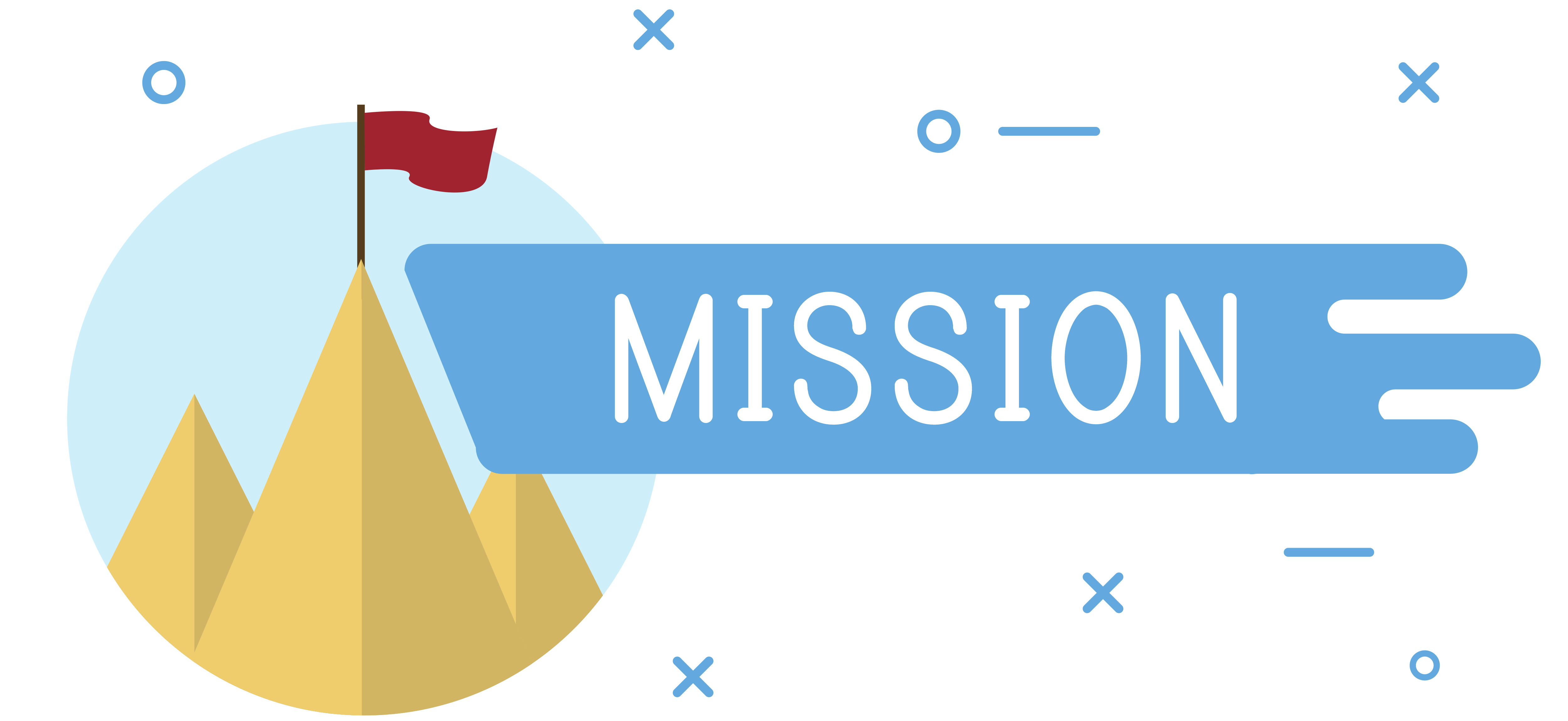 Mission Statement of tower and flag