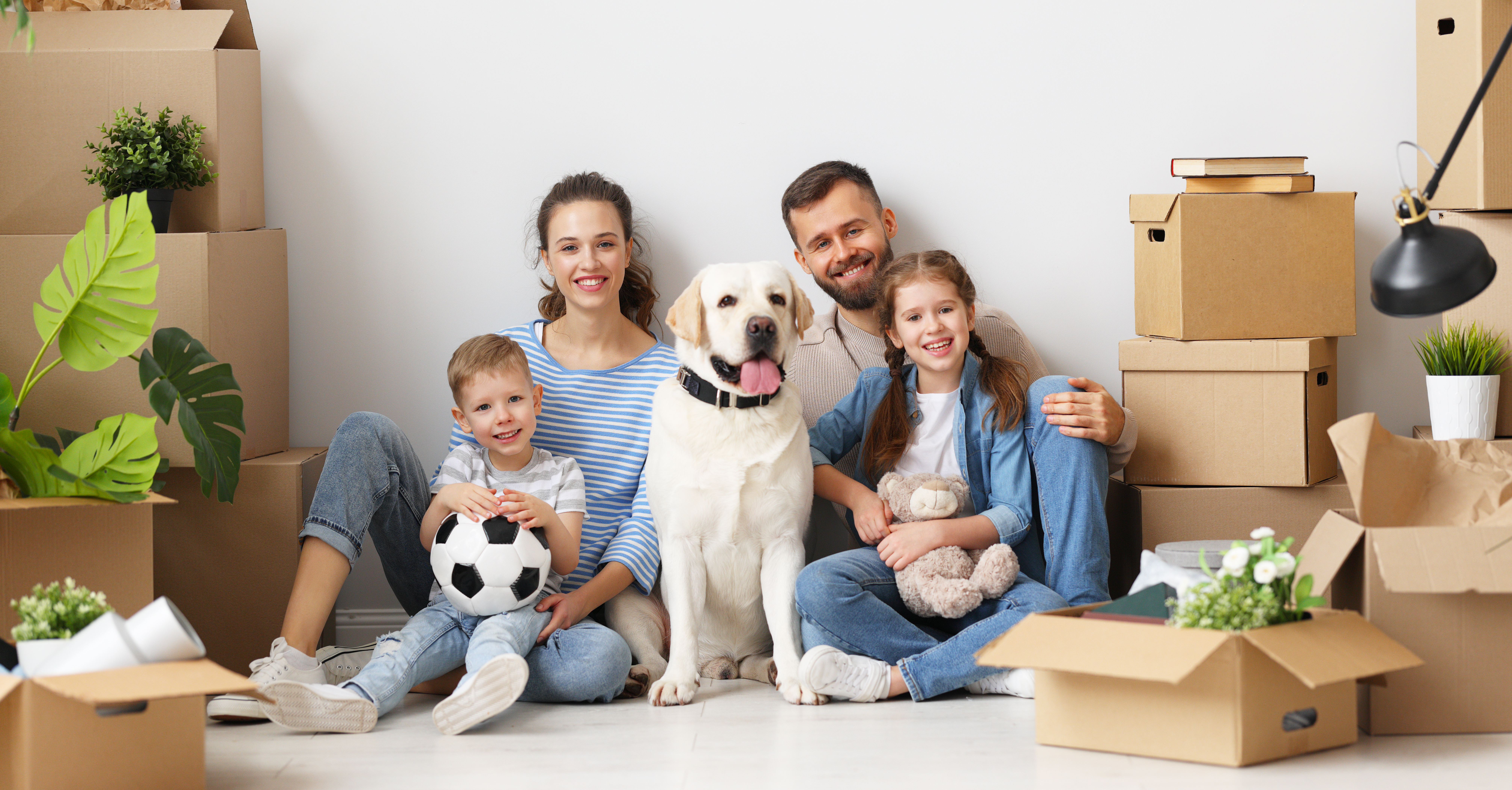 Modern Homeowner with family
