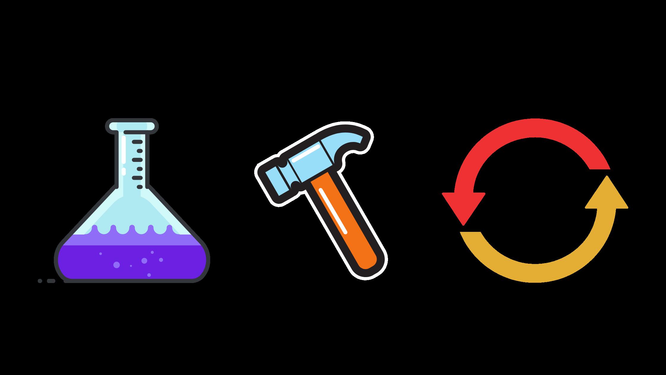Test, tweak, repeat illustrations