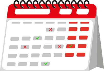 Posting Schedule Calendar