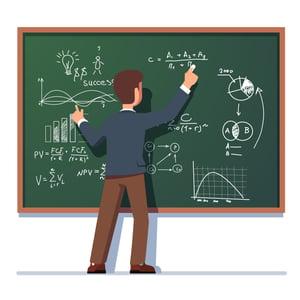 Professor and Chalk Board