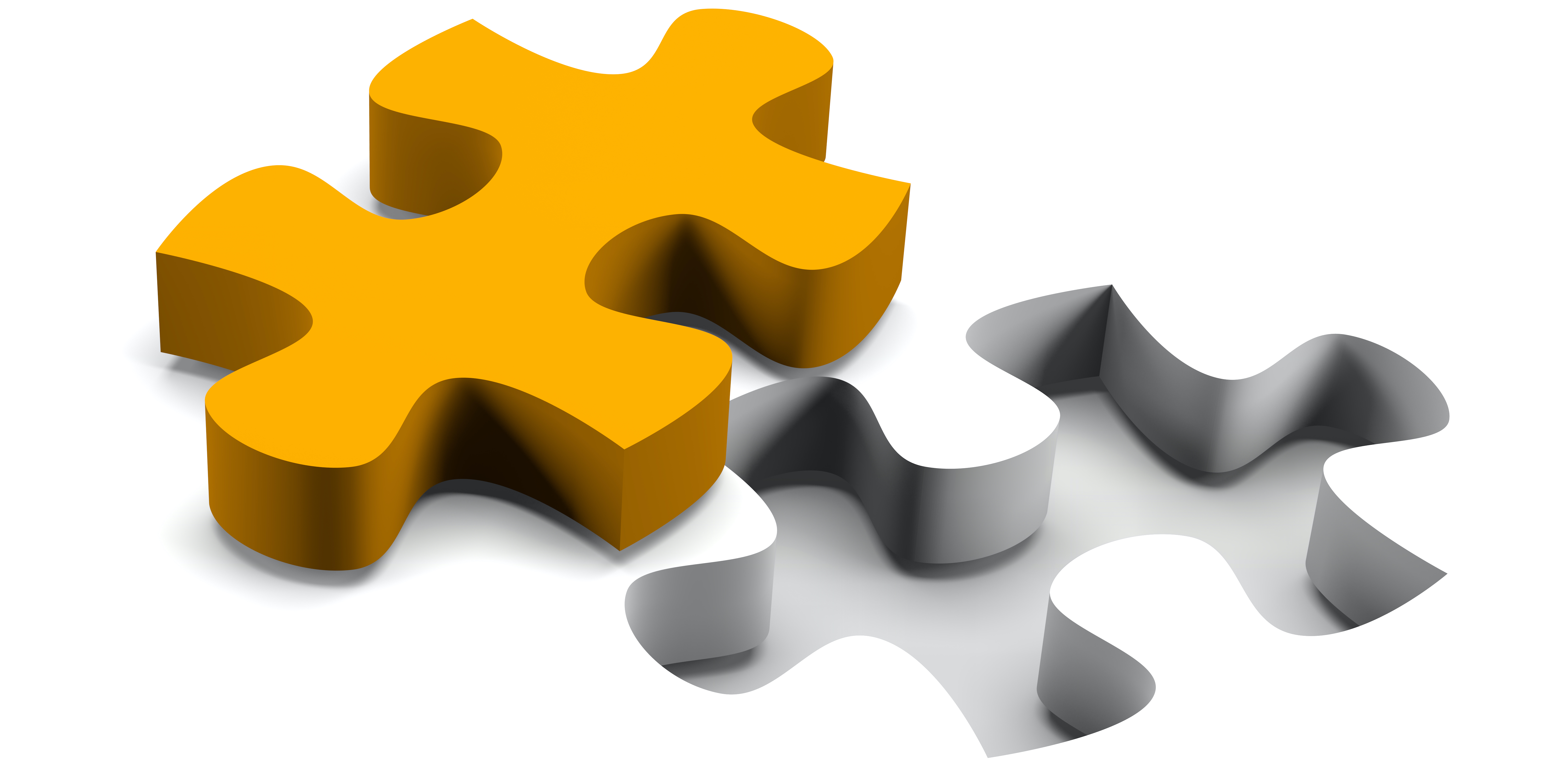 Puzzle piece fitting together