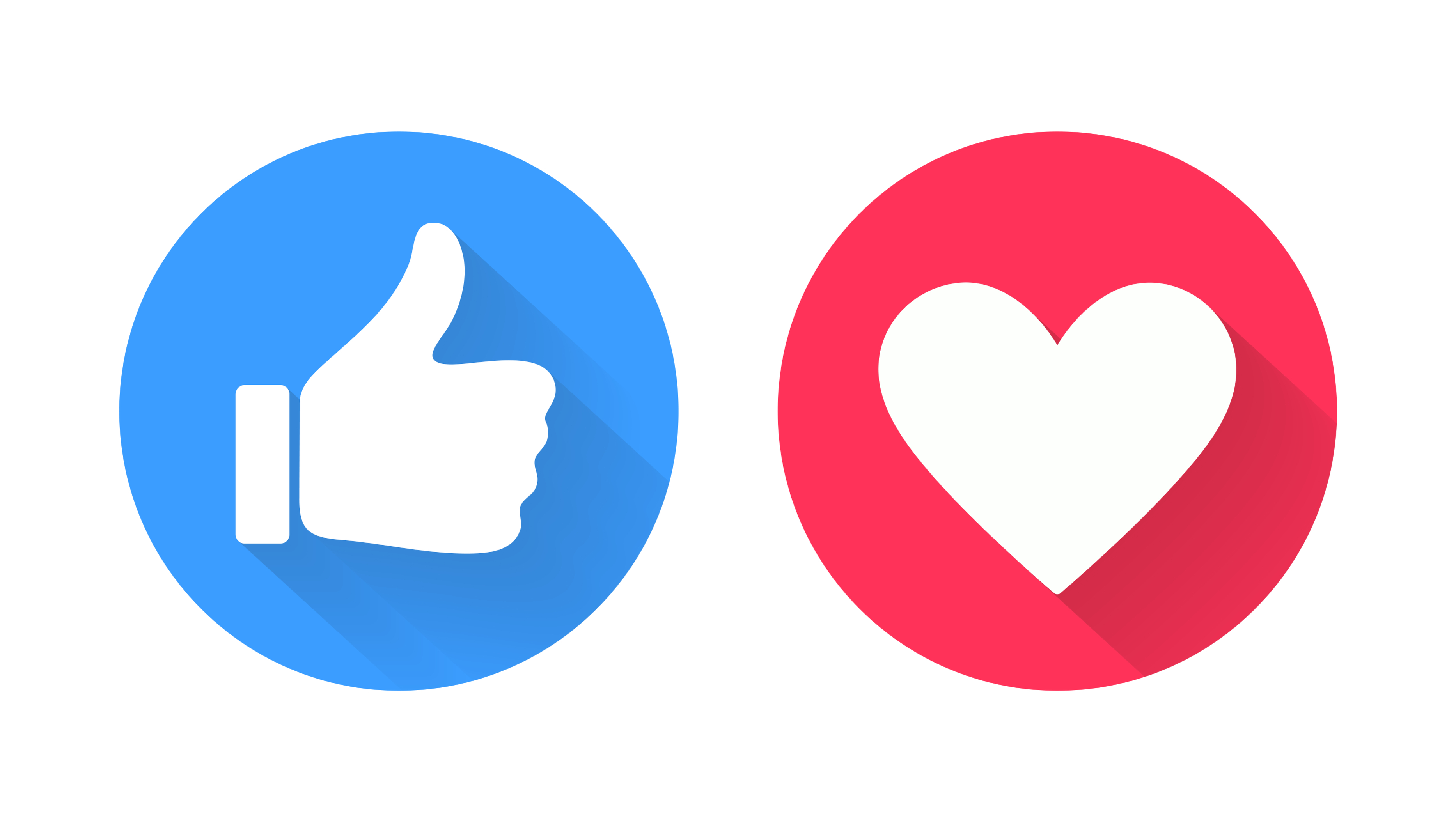 Like and Love social icons