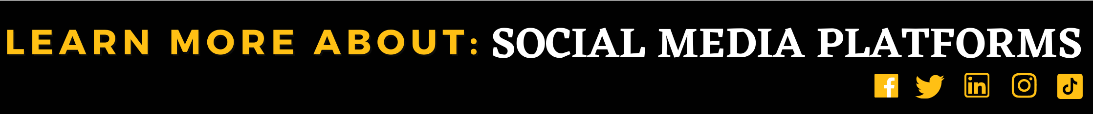 Social Media Learn More About Platforms Banner