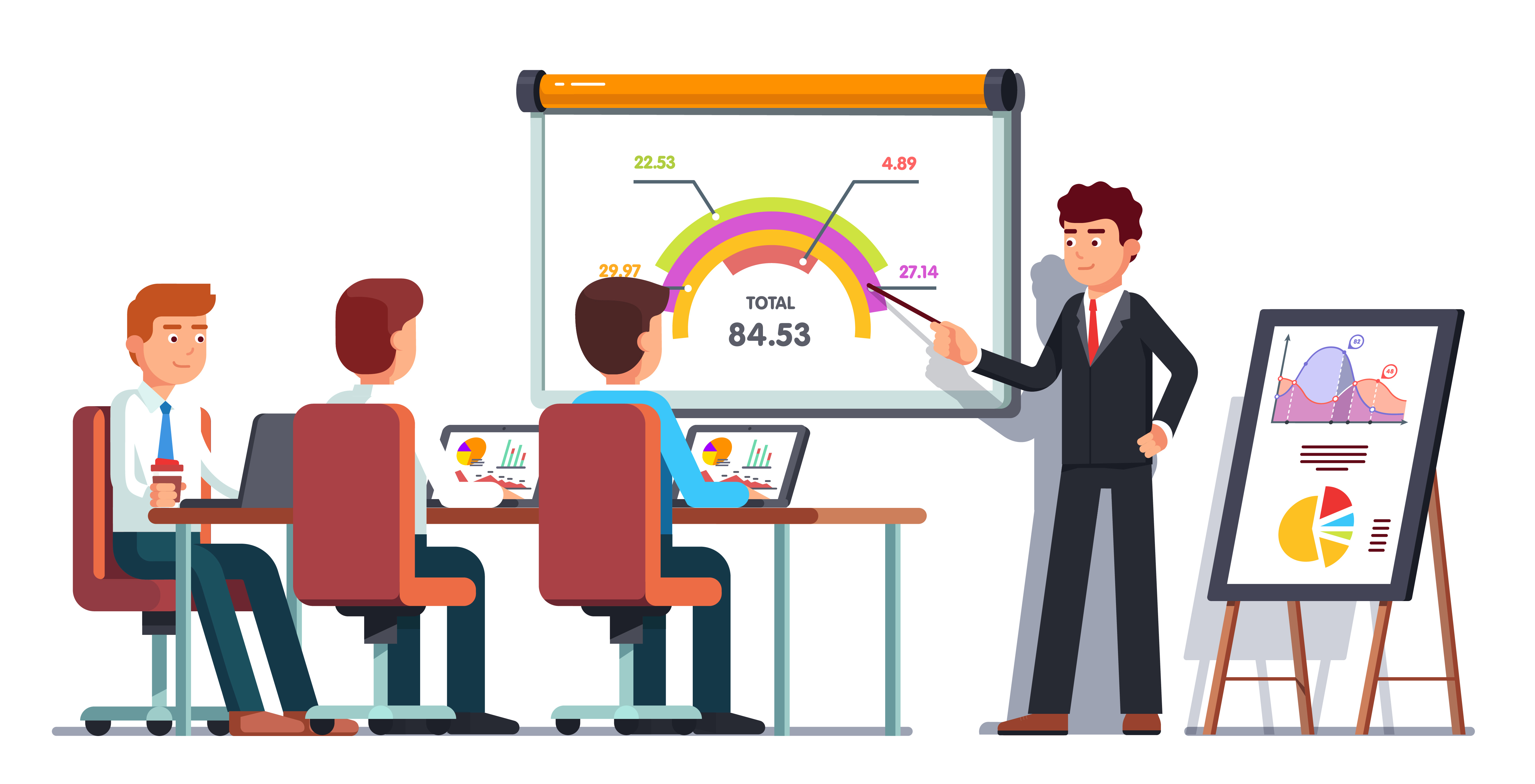Stats Presentation Illustration