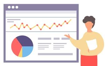 Video Statistics Presentation Illustration