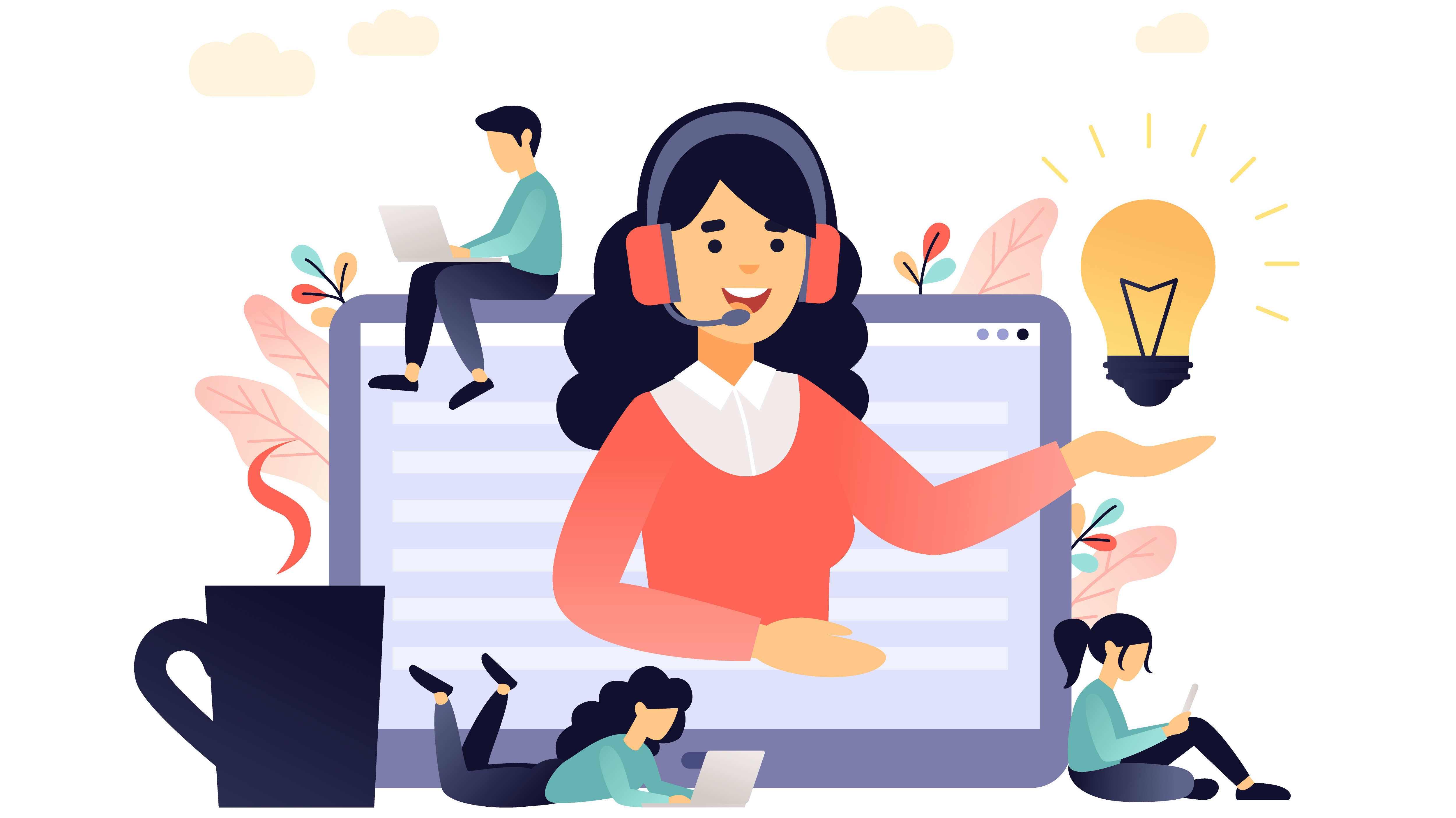 Virtual Assistant Illustration