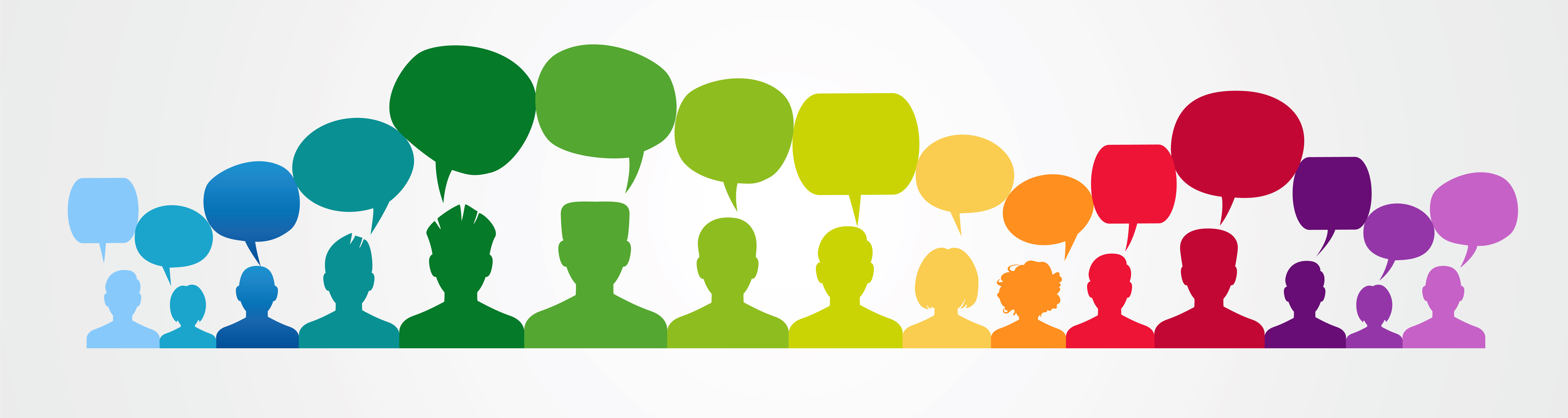Banner of feedback bubbles