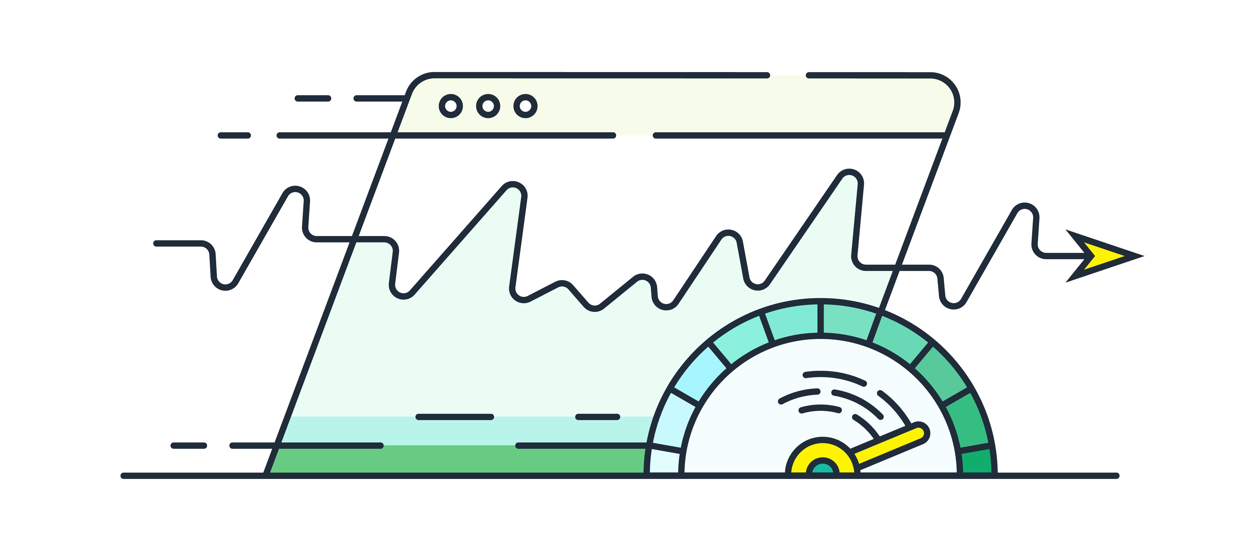 Website speed Illustration