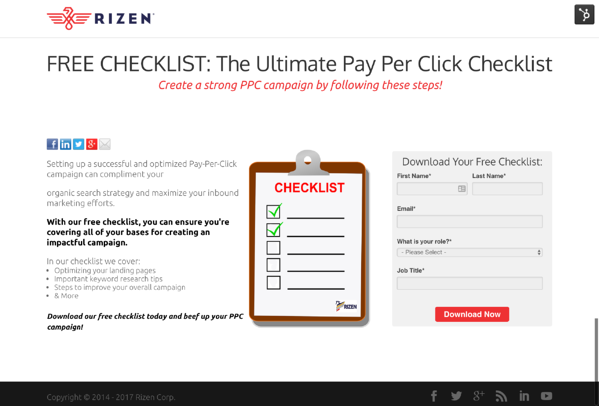 FREE CHECKLIST  The Ultimate Pay Per Click Checklist