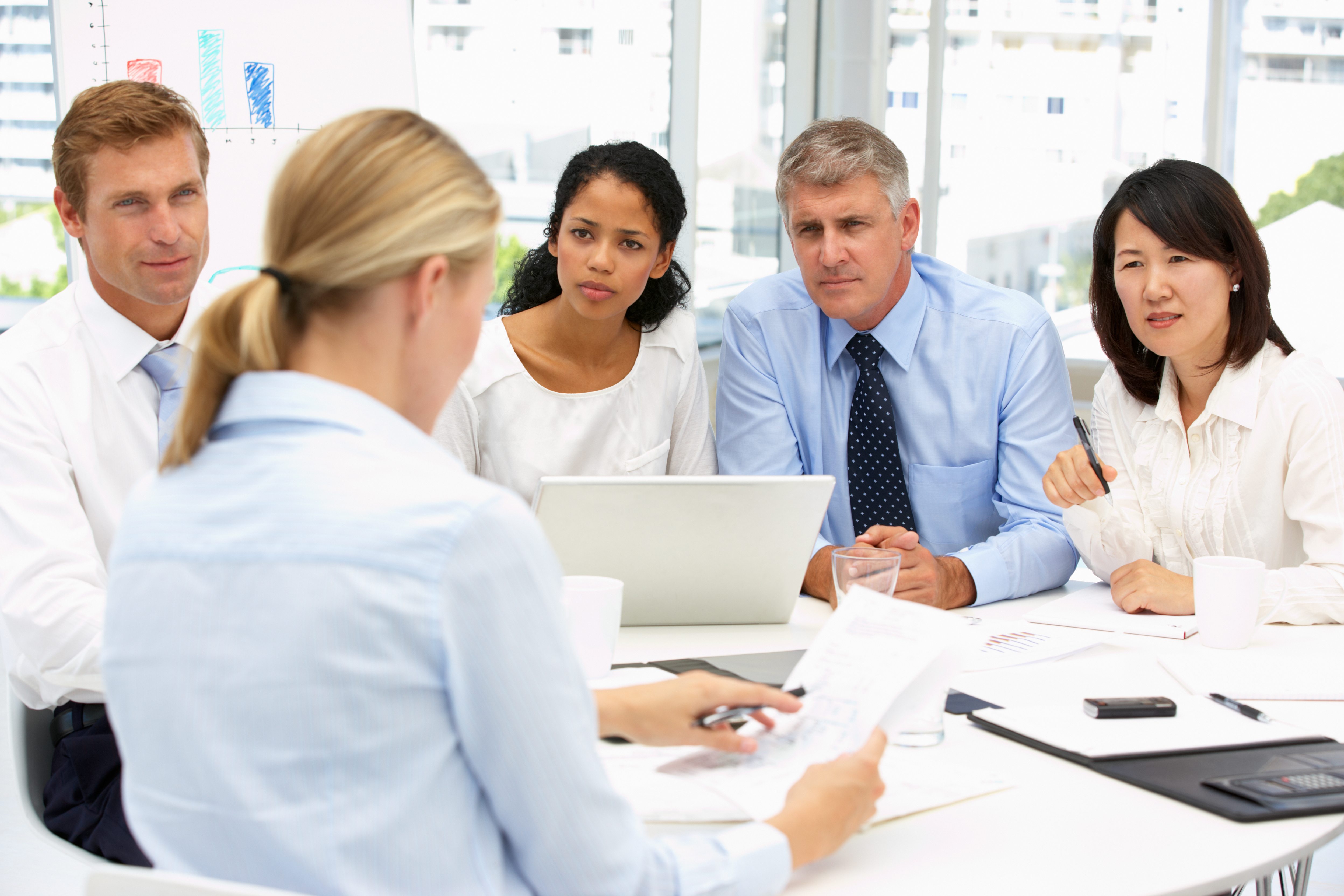 decision makers in a meeting