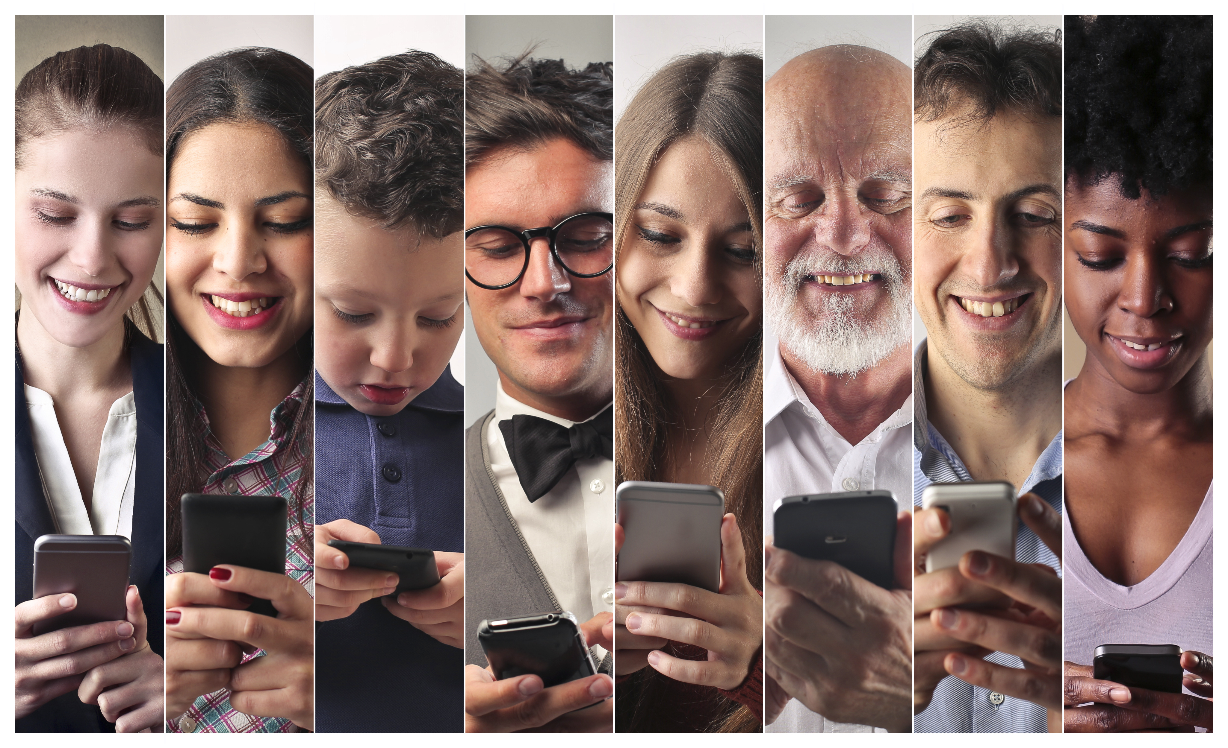 multiple people receiving personalized messages