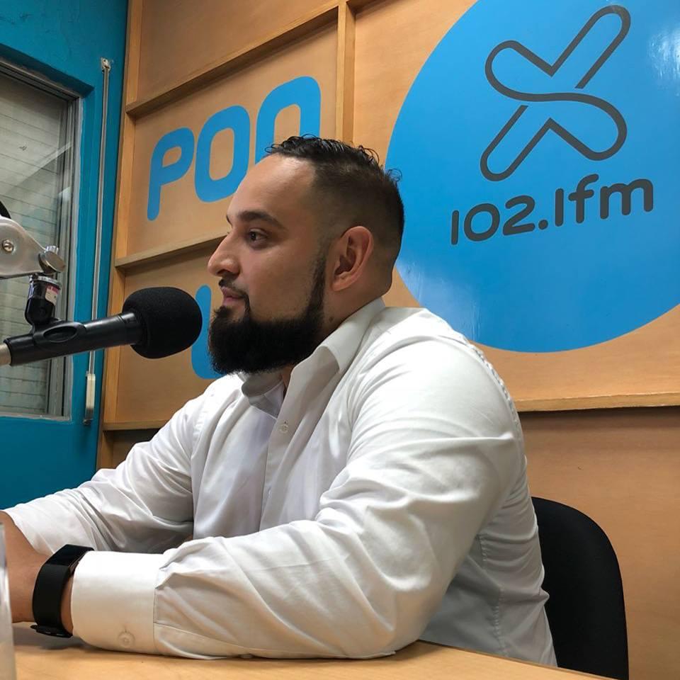 rod at the radio station