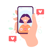 Taking a selfie to generate UGC