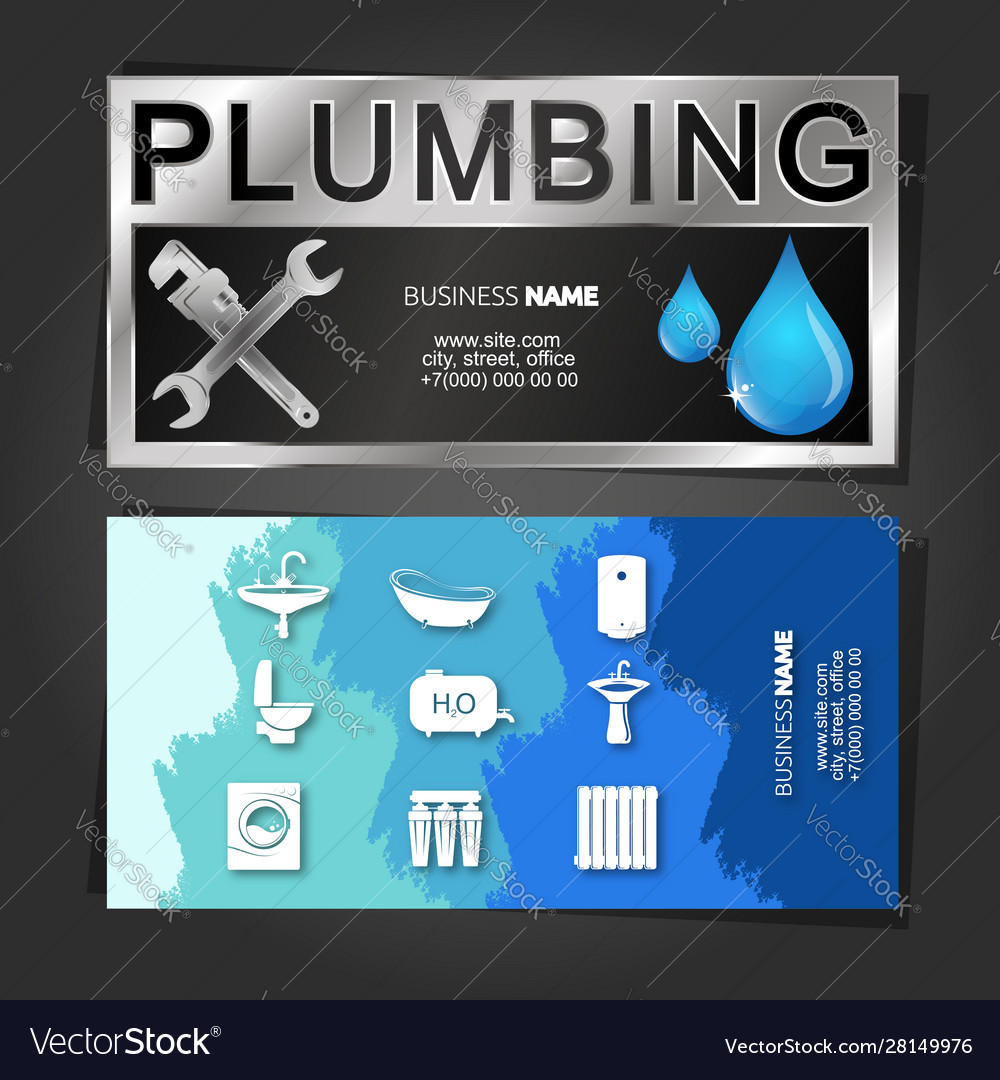 An example of a plumber business card