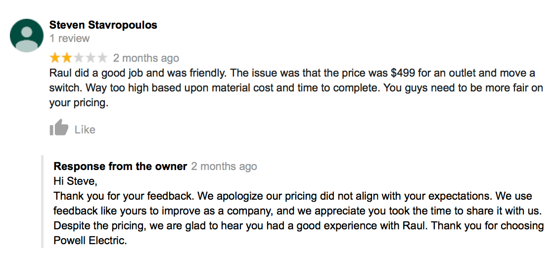 Be Kind and Appreciative While Responding To Negative Reviews