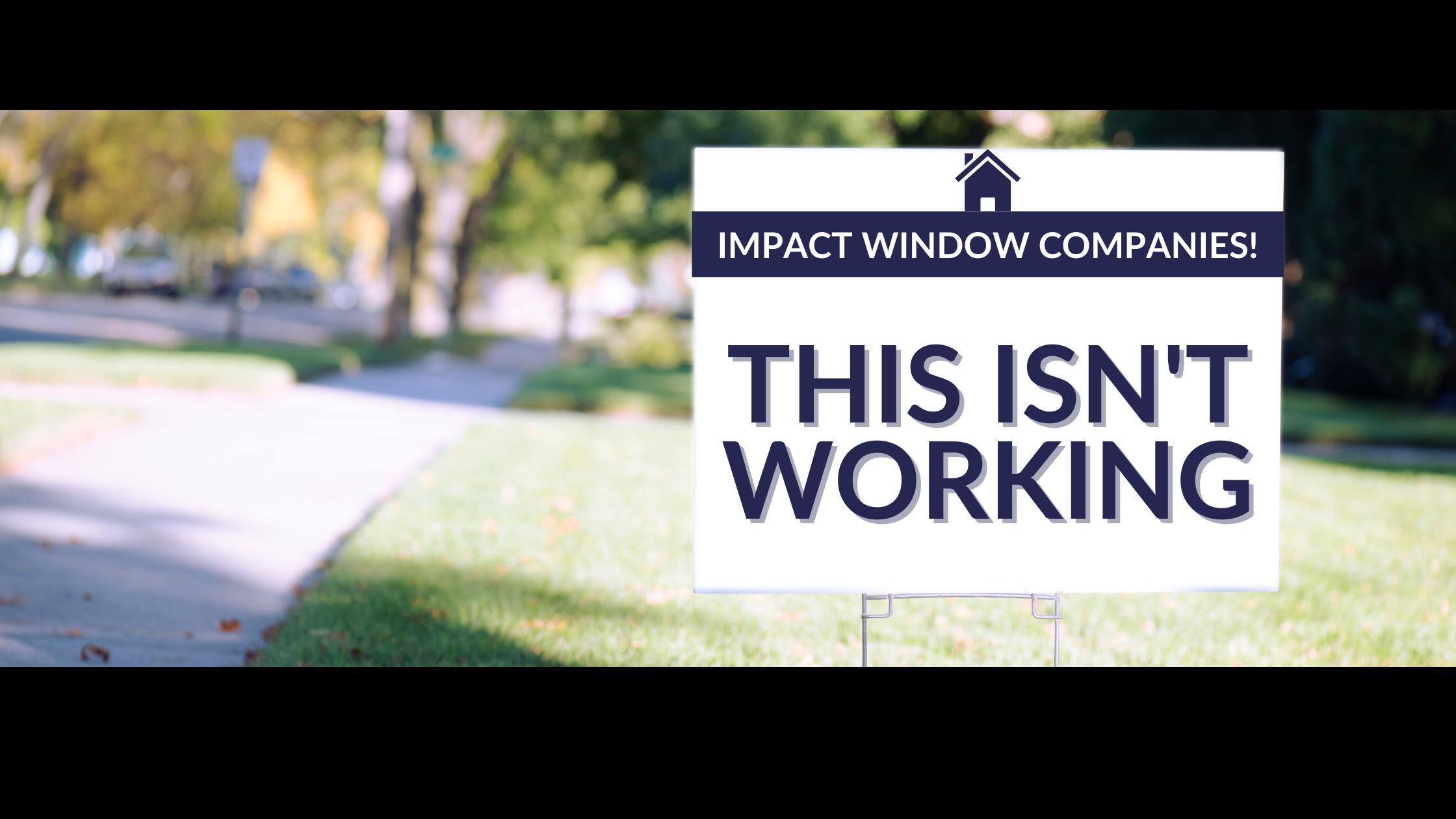 why impact windows companies need digital marketing