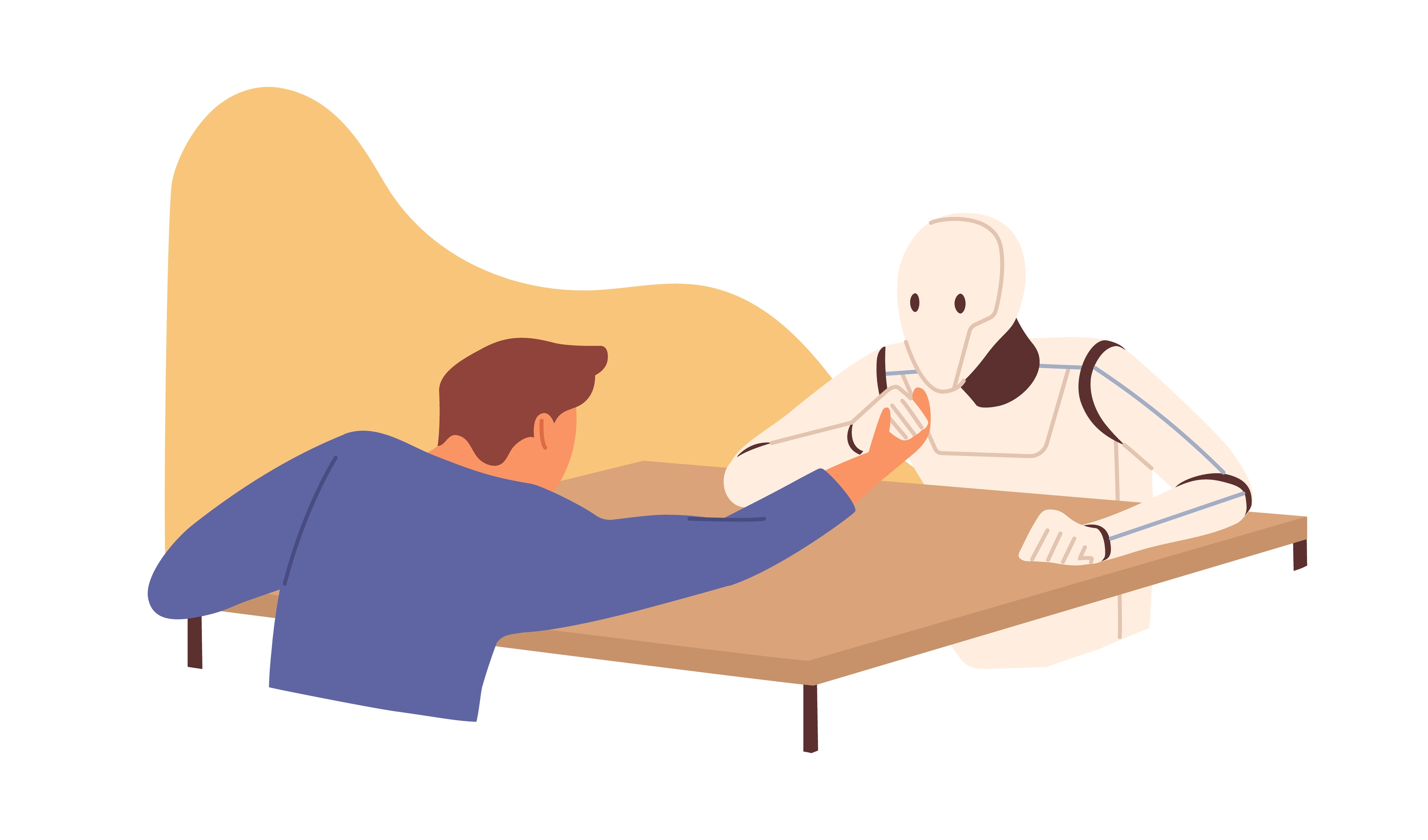 Computer and human arm wrestling